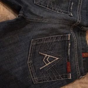 7FAMK Jeans!!!  Size 27. Gently used blue jeans.